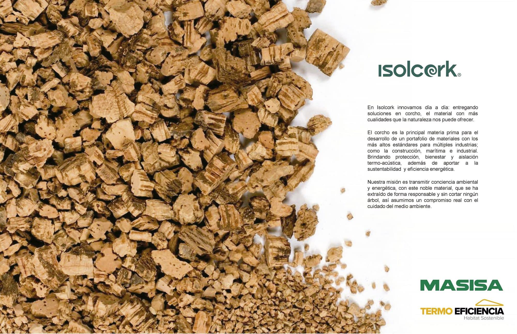Corcho Proyectado colombia isolcork masisa